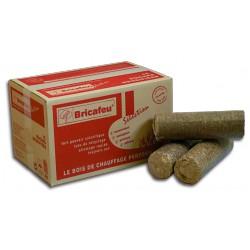 Carton de Bûches de bois de chauffage densifié Bricafeu Sélection 15